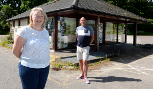 Susan Clark and Gordon Findlay of GURCA, Glen Urquhart Rural Community Association at the former tourist information in Drumndrochit which will be Loch Ness Hub. Picture: Gary Anthony.