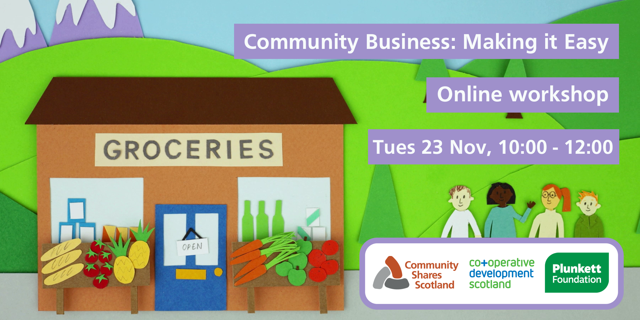 'Community Business: Making it Easy' event promo
